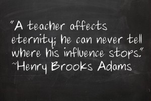 a teacher affects eternity essay