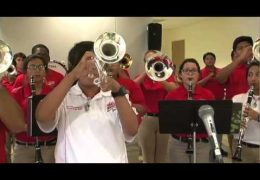 Waltrip High School Band performs for HISD's Fine Arts Friday
