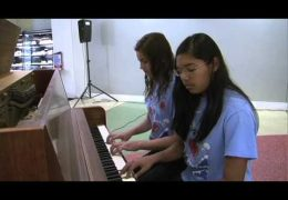 Johnston Middle School Piano Performance for Fine Arts Friday