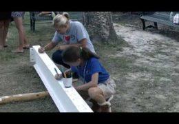 Condit Elementary School community signs steel beam