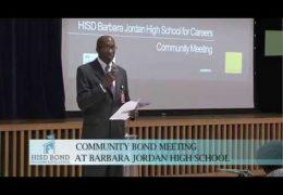 Community Bond Meeting at Jordan High School