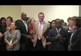 HISD staff reception for Superintendent Terry Grier