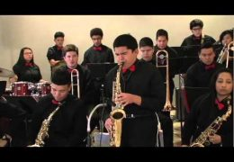 HISD Fine Arts performance by the Waltrip HS Jazz Band