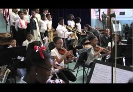 HSPVA Graduate Jason Moran performs with the MacGregor Elementary School Band
