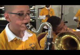 Garden Villas ES Advanced Band performs for Fine Arts Friday