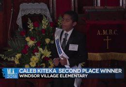 MLK 2018 Second Place: Winner Caleb Kiteka, Windsor Elementary