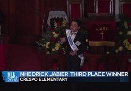 MLK 2018 Third Place Winner: Nhedrick Jabier, Crespo Elementary