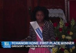 MLK 2018 First Place Winner: Tchanori Kone, Gregory-Lincoln Elementary