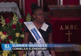 MLK 2018 Summer Whitaker, Cornelius Elementary