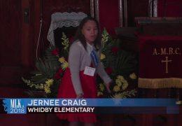 MLK 2018 Jernee Craig, Whidby Elementary