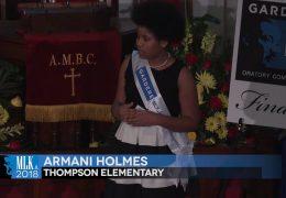 MLK 2018 Armani Holmes, Thompson Elementary