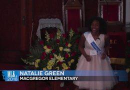 MLK 2018 Natalie Green, MacGregor Elementary