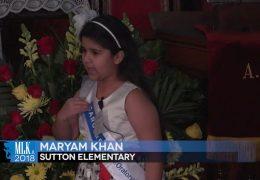 MLK 2018 Maryam Khan, Sutton Elementary