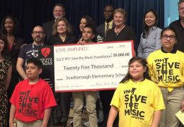 HardRock Heals Foundation & VH1 Save the Music donation to Scarborough ES