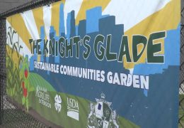 Mickey Leland College Prep Academy celebrate their new school garden
