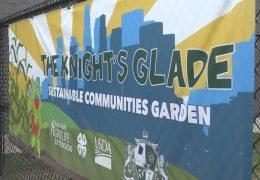 Mickey Leland College Prep Academy celebrate their new school garden