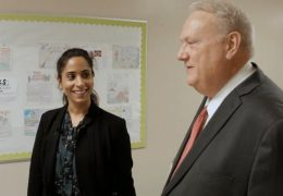 Monijit Katial, first day as principal of Revere Middle School