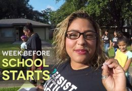 Katherine Smith Elementary Staff Walks the Neighborhood