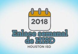 Enlace semanal de HISD 2 de noviembre 2018