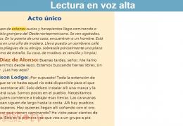 3rd-5th Reading/Writing (Spanish) – Elementos y escenarios de la trama dramática