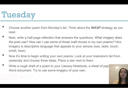MS Reading/Writing – Creative writing poetry