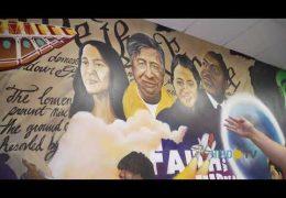 Camino al Éxito: Mural en la Preparatoria Furr resalta la diversidad y la Herencia Hispana
