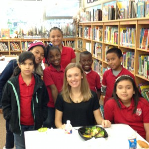 Author Liesl Shurtliff and Red Elementary Students