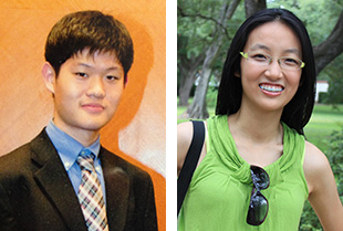 "Bellaire HS grads Yuqing ""Mike"" Xiong, left, and Jinchen Zou"