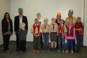 Cub Scout Troop 558, Den 2/3, recently visited Nutrition Services for a tour of the facility and to earn their fitness badge.
