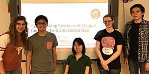 L-R are: Bellaire HS students Sue Anne Davis, Kevin Nguyen, Jennifer Wang, Afton Widdershins, and Steven Zhou-Wright