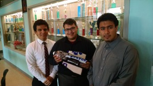 East Early College HS Falcon 1 team, Pablo Flores, Miguel Lara, and Alejandro Meza
