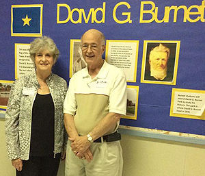 Two HART members at the May 15 distribution were also former students. Paul Ofield attended Burnet from 1939 until 1946, while Karen (Hawkins) Parson went there from 1950 until 1955. Parson's mother also taught first grade there for 37 years.