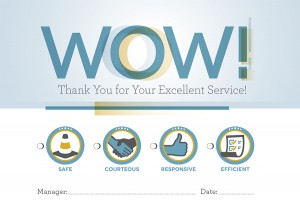 HISD employees can receive Wow! cards for displays of excellent customer service.