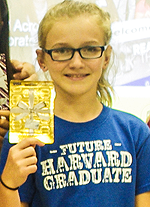 Harvard ES fifth-grader Callie Bream took home a gift card for $150 as the inaugural first-place prize winner of a new monthly video contest sponsored by HISD Education Technology and the Future of Privacy Forum.