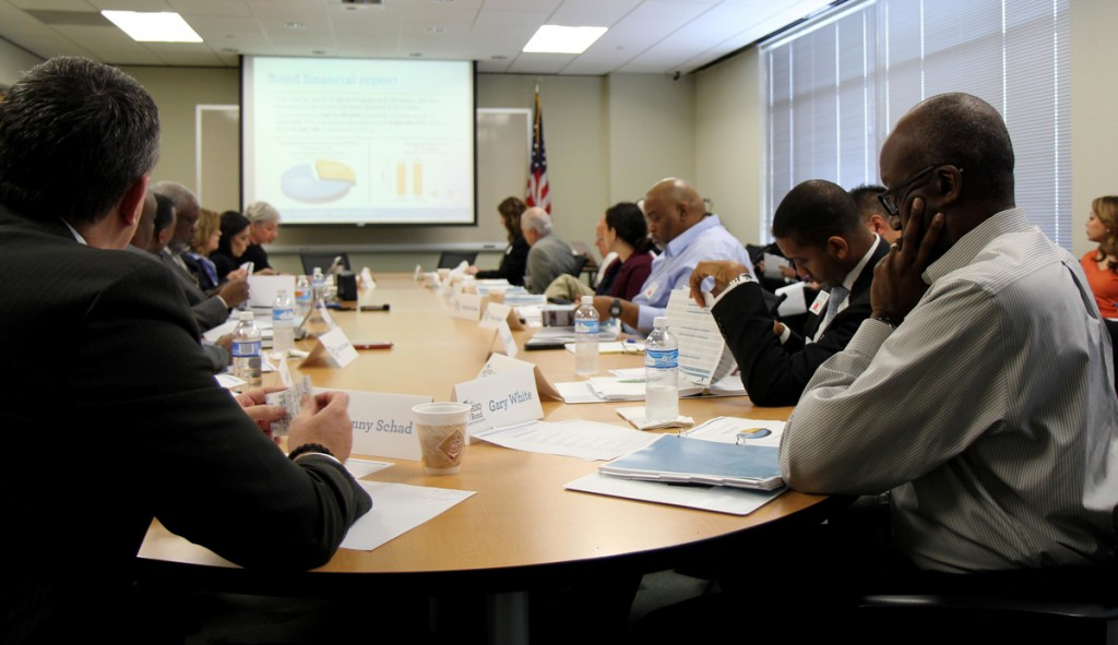 The Bond Oversight Committee convenes on Tuesday to review fourth quarter progress on the bond program.