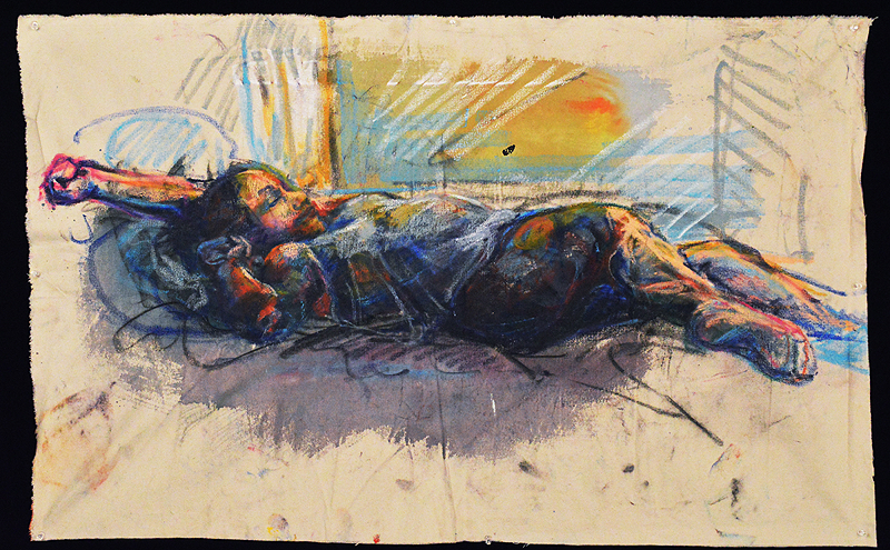 "Anna White, from the High School for the Performing and Visual Arts, was named an ""American Vision"" finalist in this year's Scholastic Art & Writing Contest for her painting, entitled ""Afternoon Nap."""
