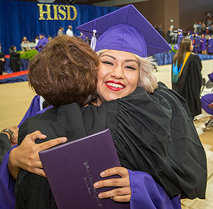 A student from Davis HS at the 2015 graduation ceremony.