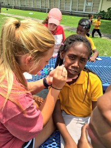 Camp counselors from Camp Fuge celebrated the end of their three-week program with a summer part at Codwell Elementary on Wednesday, June 29, 2016.