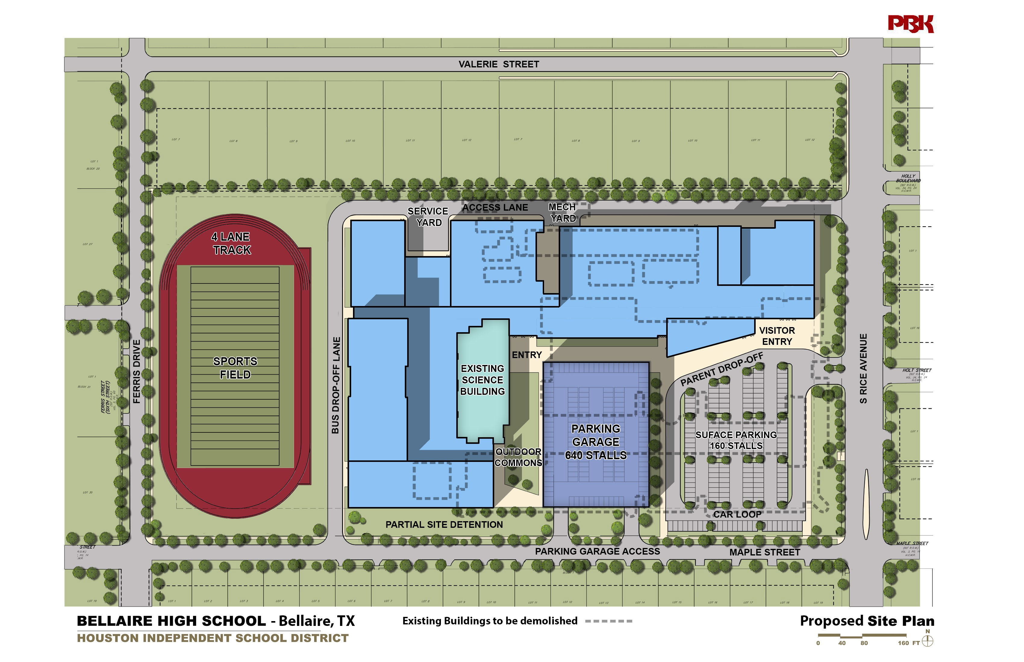 The Bellaire City Council Has Approved An Updated Site Plan And Traffic  Study For The New Bellaire High School And Granted A Permit For The  Property, ...