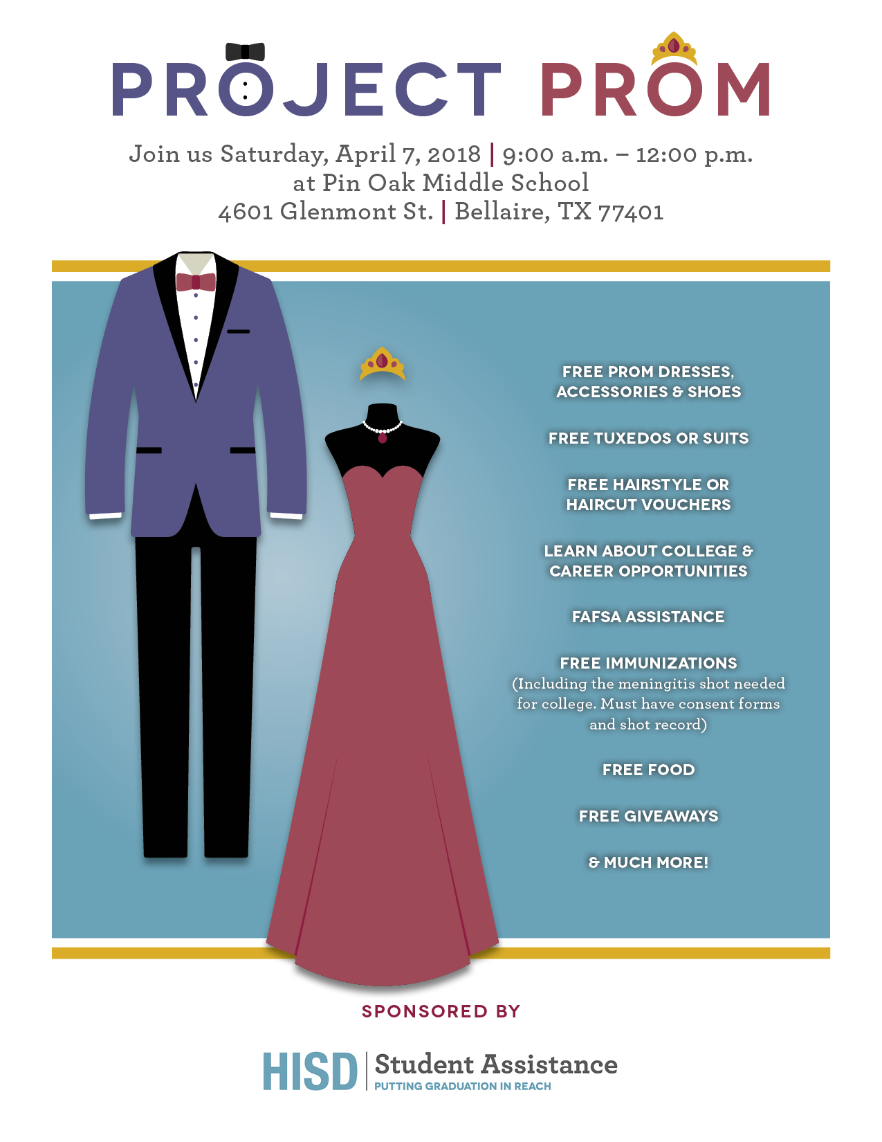 abc2bf6f383 The Houston Independent School District Student Assistance Department will  provide free dresses