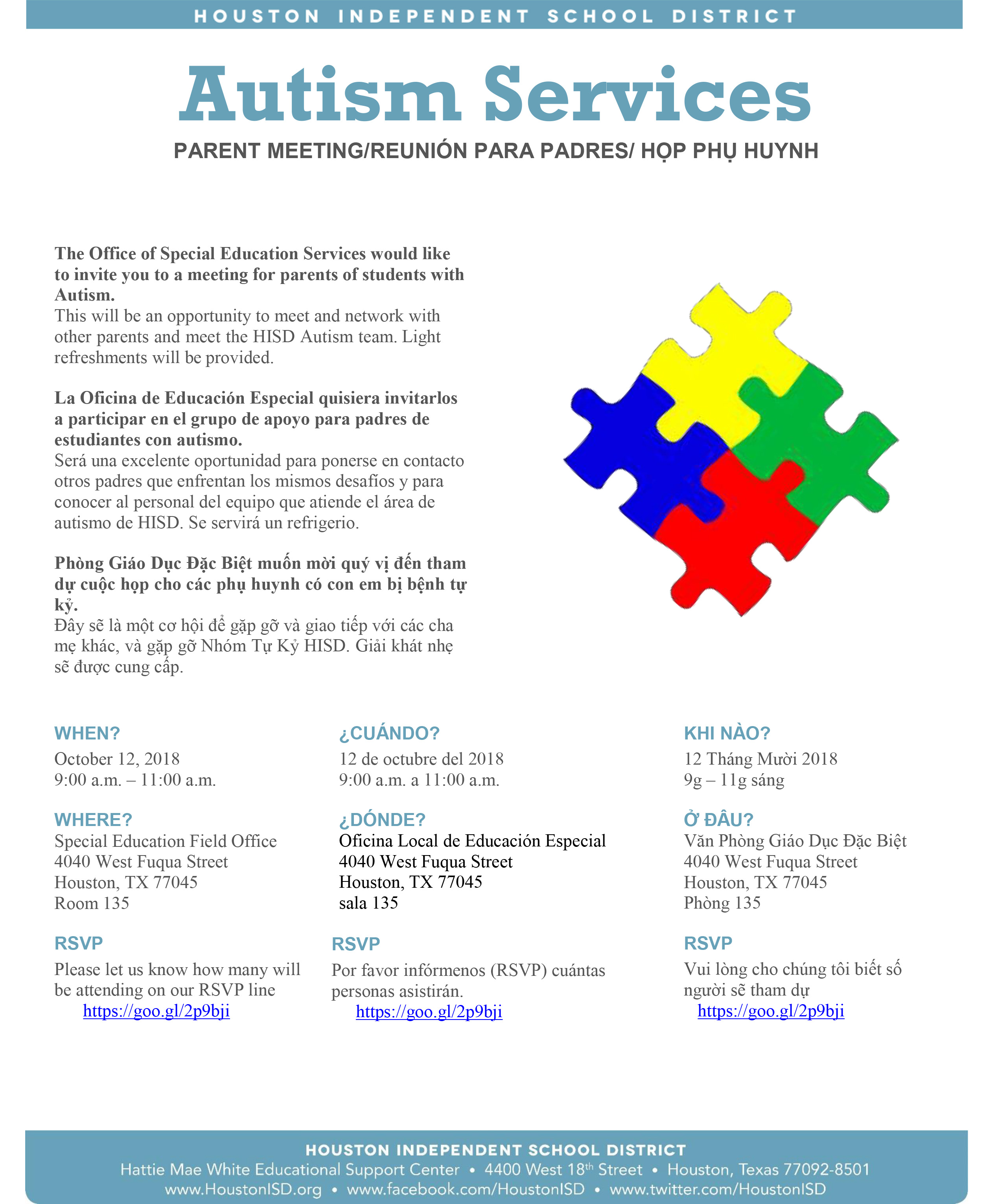 Parents Invited To Autism Services Meeting On Oct 12 News Blog