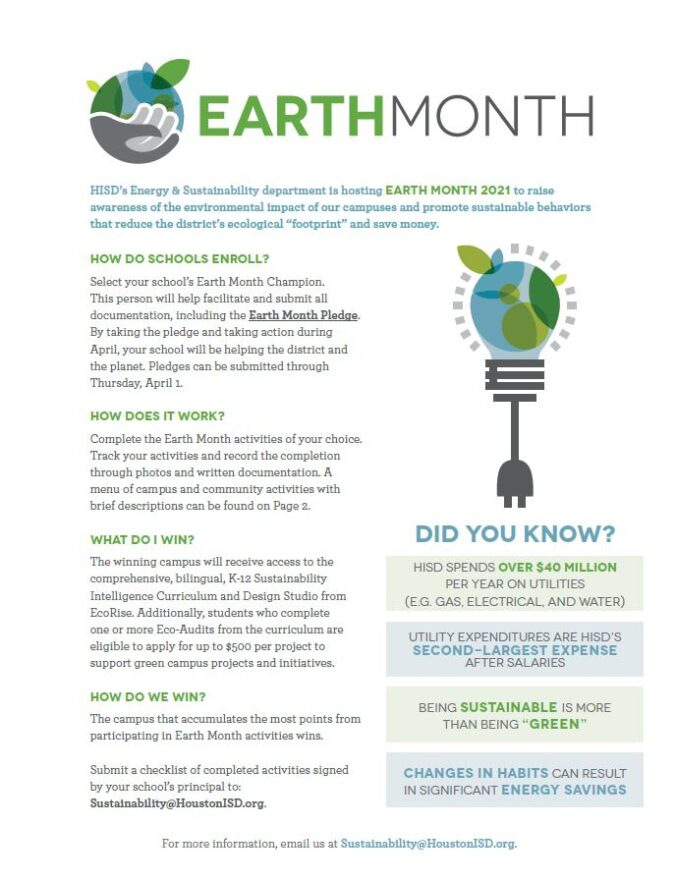 EarthMonth flyer